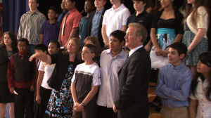 Chris Van Hollen Visits Newport-Mill Middle School To Talk About Nutrition. Featured on County Report This Week on Montgomery Community Media.