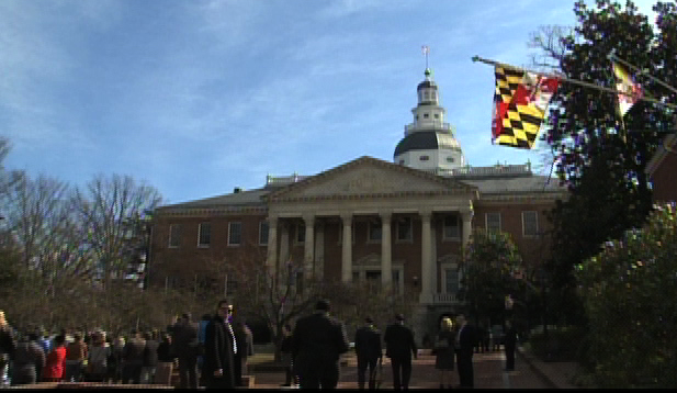 Image of Maryland General Assembly where the Assembly approved an income tax hike.