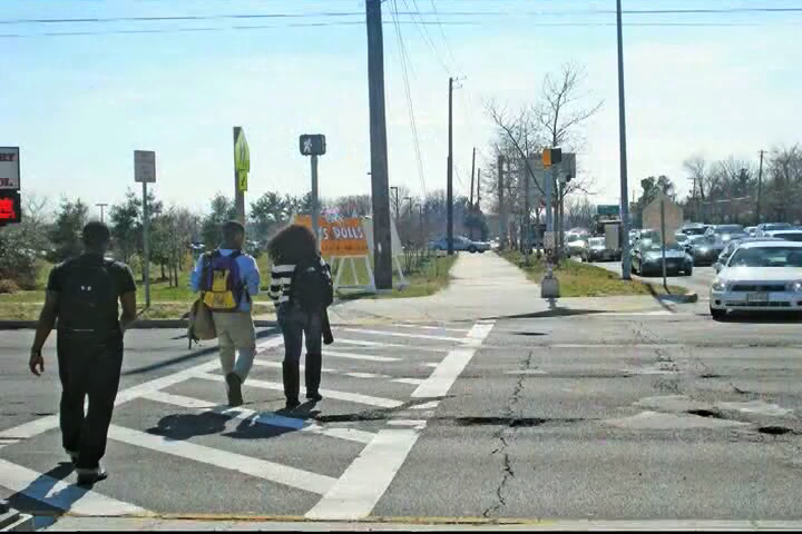 pedestrians in crosswalk picture