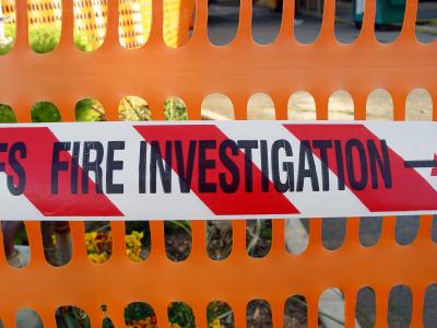 fire investigation area picture