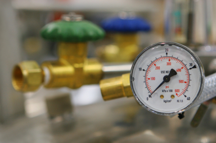 image of gas line and guage