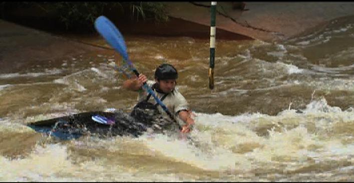 Olympian Scott Parsons kayaking