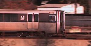 metro rail and car