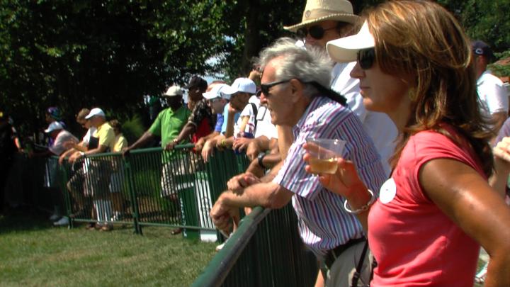 Spectators at Congressional AT&T Nationals Golf Tournament
