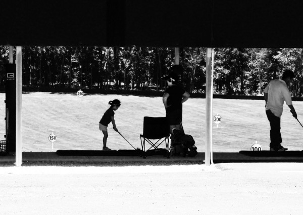young golfer at South Germantown Driving Range
