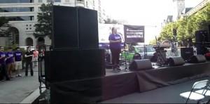Erin Willett singing National Anthem at Purple Stride DC