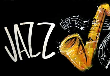 Jazz with saxaphone graphic