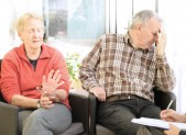 elderly couple under stress picture