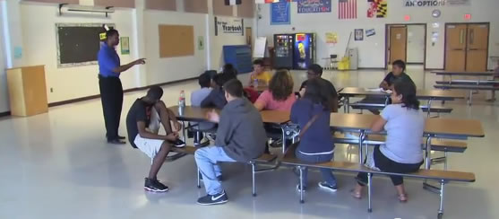 Councilmember Craig Rice visits Montgomery Village Promise Academy