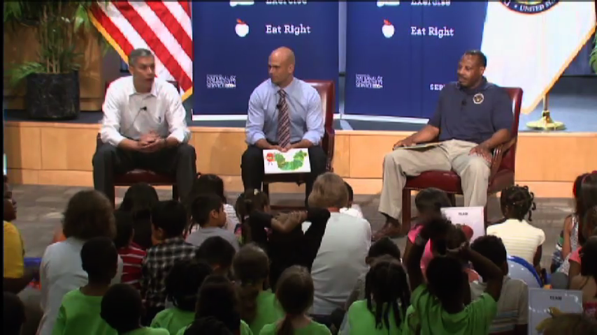 Elementary students attending Let's Read Let's Move initiative in DC
