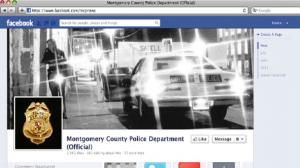 Montgomery County Police Department Website screen capture