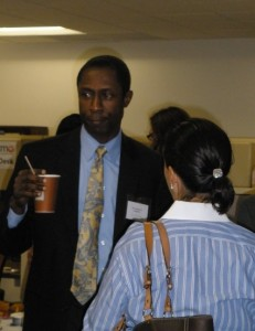 Image of man at Networking Breakast Series at Montgomery Community Media on June 28