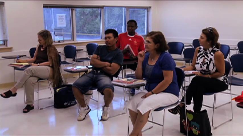 Montgomery College students in Citizenship Preparation Program