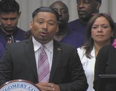 Jaime Contreras, President of SEIU Local 32BJ, Speaks In Favor of Displaced Workers Bill