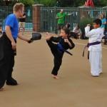 image of National Night Out Sign at Kicks Karate class