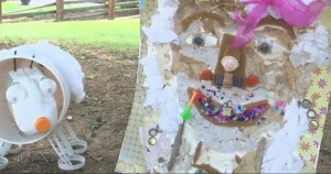 Takoma Park celebration art from trash