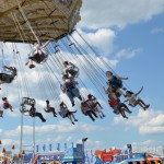 Image of people on ride at Fair