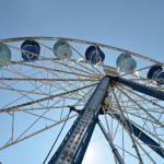 Image of Ferris Wheel Against Blue Sky