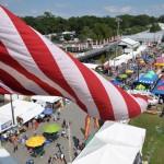 The American flag over the Fair
