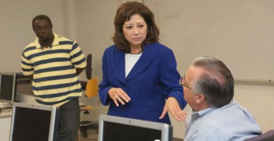 Labor Secretary Hilda L. Solis with students