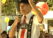 Bavarian dressed man at Oktoberfest