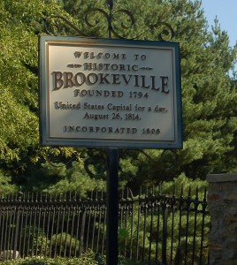 photo of Welcome to Brookeville sign