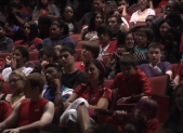 teens in auditorium