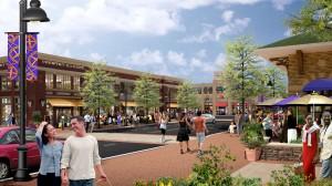 rendering of Crown development in Gaithersburg Maryland, Downtown Crown View Daytime