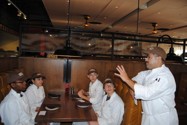Image of Jose de la Paz, Chef, Not Your Average Joe's with Quince Orchard High School Students