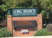 Long Branch Center sign