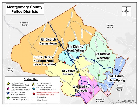 Montgomery County Police Districts Photo