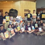 photo Bullis students participating in Manna Food Drive