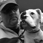photo man with dog