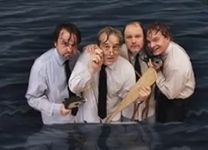photo cast of Neville's Island