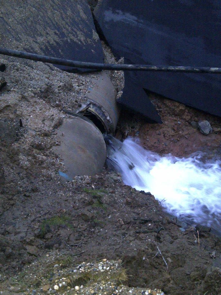 photo water main break in Chevy Chase