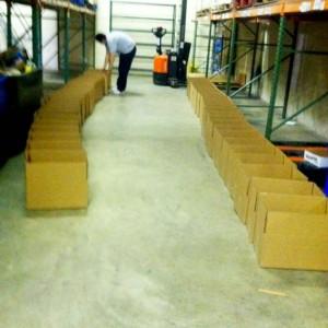 photo empty shelves at food bank