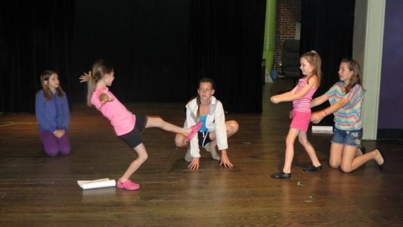 photo Charlottes Web rehearsal