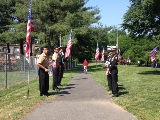 photo color guard at Memorial Day Observance