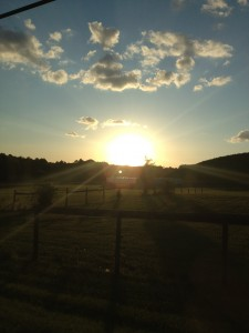 A nice picture of the sun setting in Olney on my way home from the cookout.