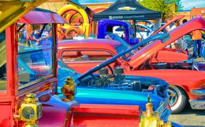 photo antique cars at Kentlands Day
