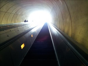 """""""Places"""" Category Top Rated Photo  Title: """"Metro Escalator""""  Photo 