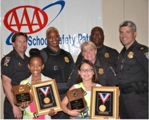 Pictured L to R, Front to Back Alanna Miller, Daceris Mendez Police Officer Guilday Sergeant Whalen, Police Officer Walker, Police Officer Johnson, Captain Didone Photo | MCPD