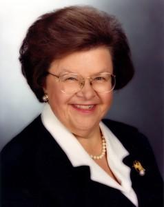 US Senator Barbara Mikulski