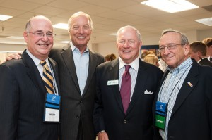 Payroll Network CEO Charlie Wolfe (3rd from left), together with (from left) Andy Stern, CEO of Andy Stern's Office Furniture; Maryland Comptroller Peter Franchot; and Larry Shulman, founding partner of the law firm, Shulman Rogers.