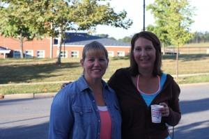 Saturday morning 7:30am, Kristi & Bridget before the shoot.