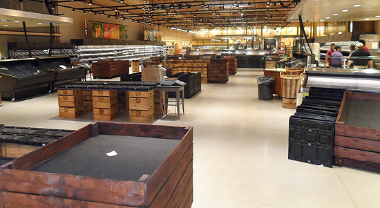 Produce Department, Wegmans in Germantown  Ready to receive fresh produce for Opening Day