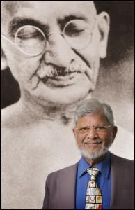 Arun Gandhi and Mahatma Gandhi Photo | Montgomery College