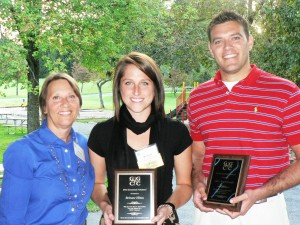 GGCC Executive Director Marilyn Balcombe with GGCC Young Professional Co-Chairs Brittany Hilton and Gary Aughinbaugh