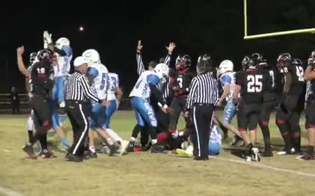 Quince Orchard scores a touchdown against Clarksbrug, November 15, 2013