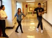 Ricardo Loaiza instructs students in the Latin Ballroom Club at Wheaton High School.